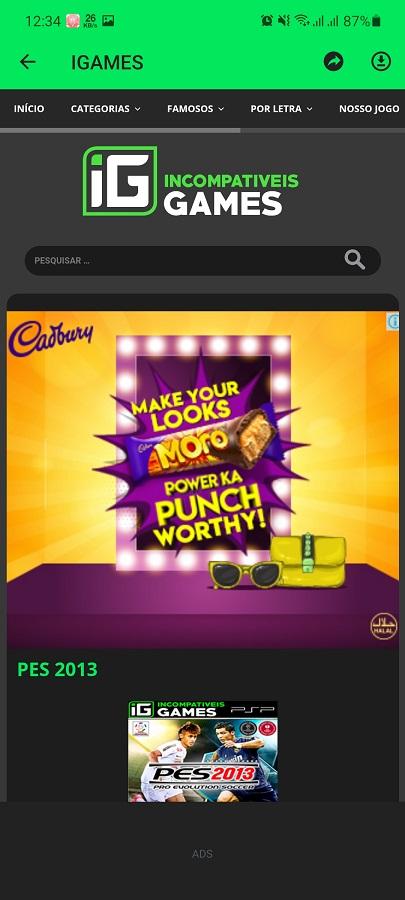 Screenshot of IGAMES Mobile App Download