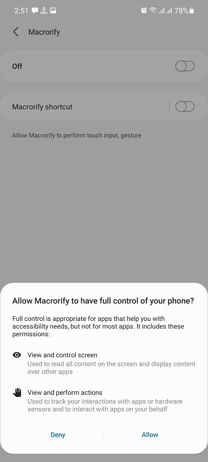 Screenshot of Macrorify Apk