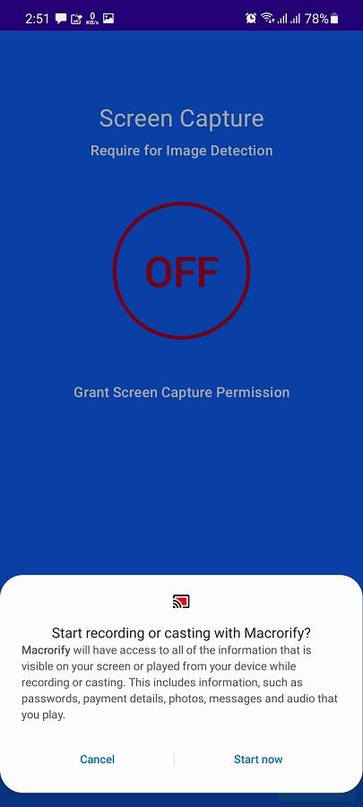Screenshot of Macrorify App