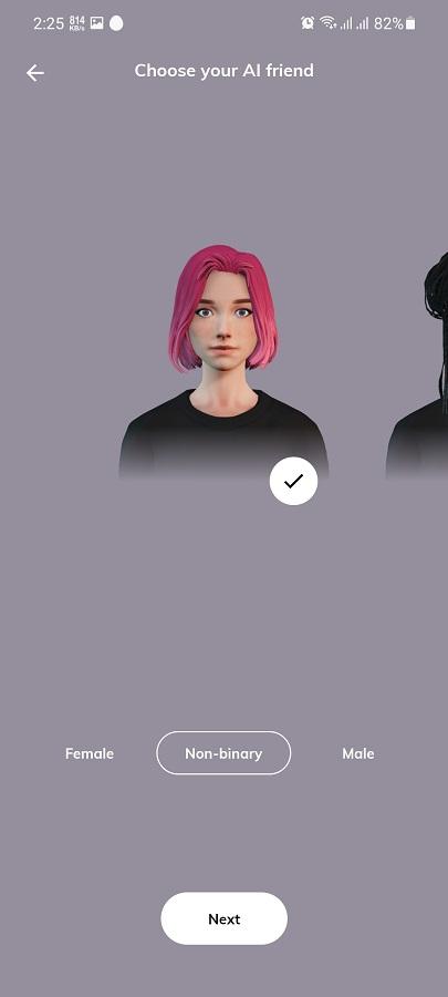 Screenshot of Replika Romantic Partner Apk