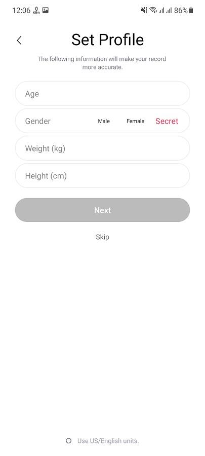 Screenshot of RunTopia App