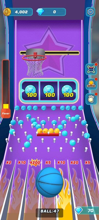 Screenshot of Toss Diamond Hoop App