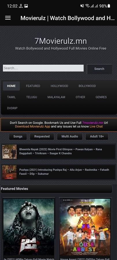 Screenshot of 4MovieRulz App