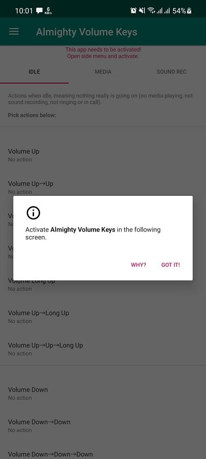 Screenshot of Almighty Volume Keys