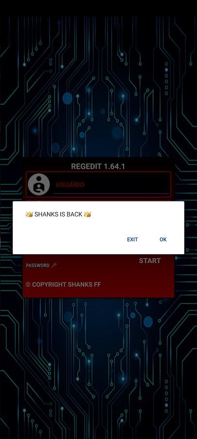 Screenshot of Injector Shanks Apk