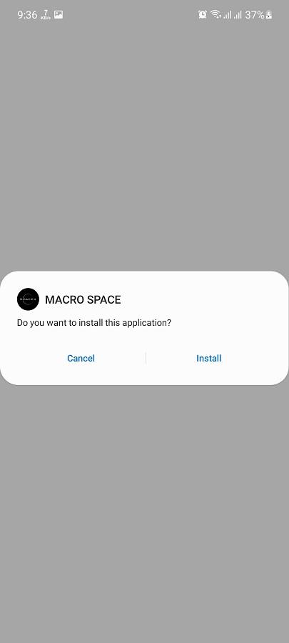 Screenshot of Macro Space