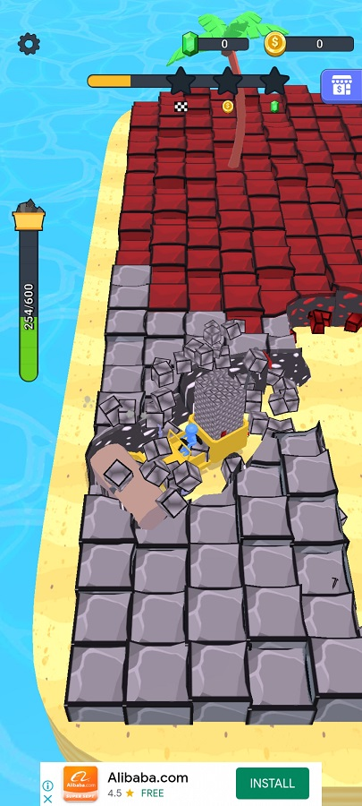 Screenshot of Stone Miner App
