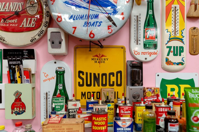 Antique signs from the Armando Terra collection