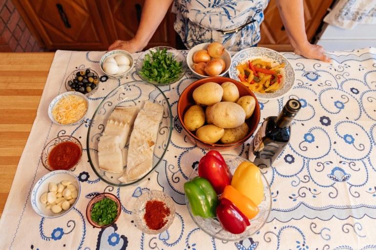 Bacalhau ingredients