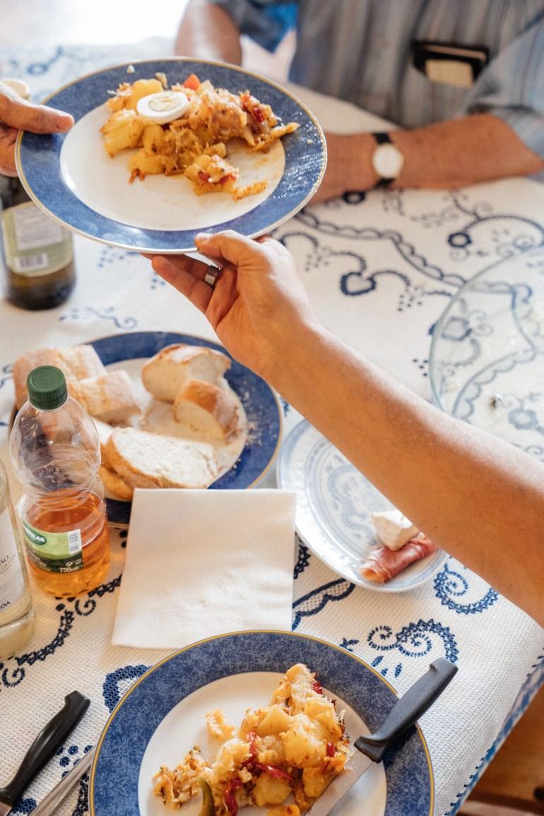 the dinner table—Bacalhau Maria Melo