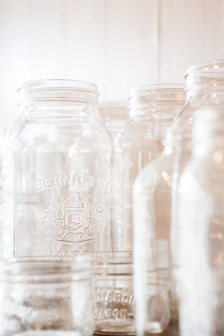 empty mason jars at theUnboxed Market