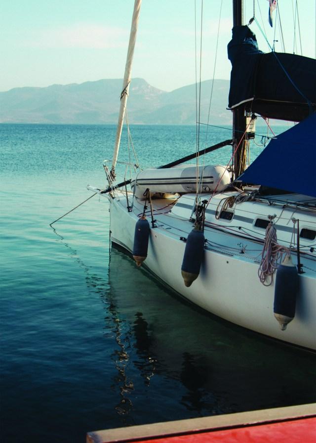 Sail boat in Greece