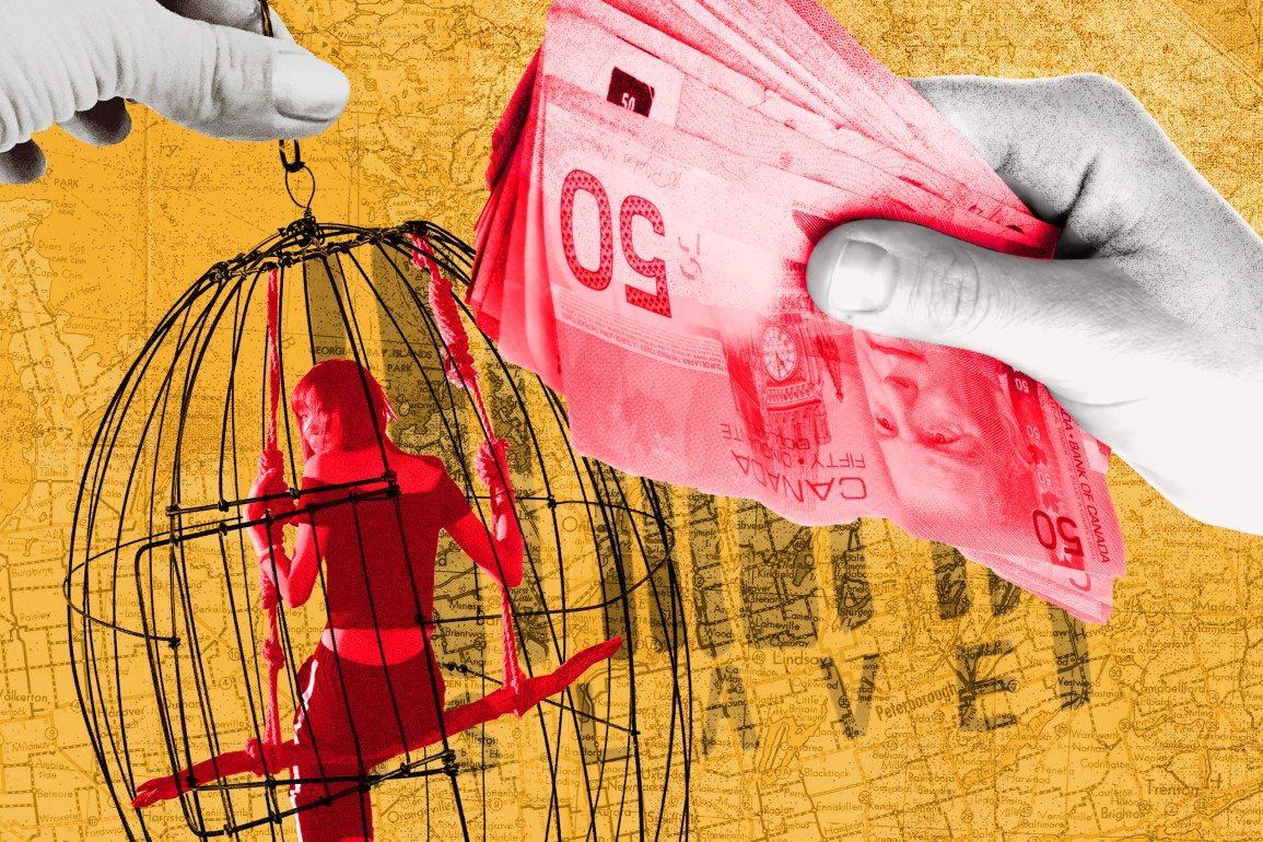 Human trafficking illustration by David Ganhão