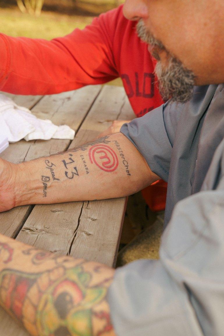 Danny Raposo MasterChef Canada tattoo