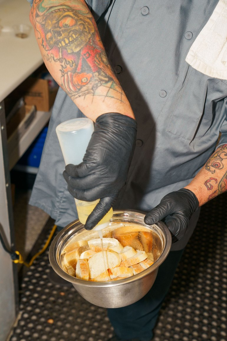 Danny Raposo Octopus Crostini with Vegetables