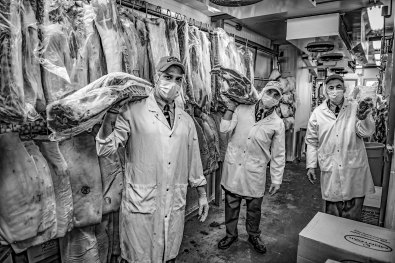 butchers at Pavão in Toronto by George Pimentel