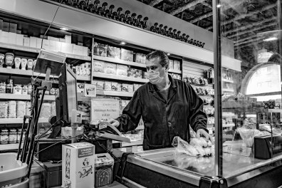 Grocery shopping in Toronto by George Pimentel