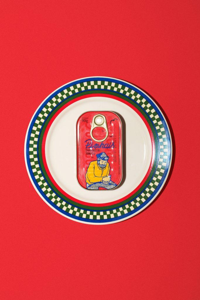 Pinhais Sardine Can on a plate