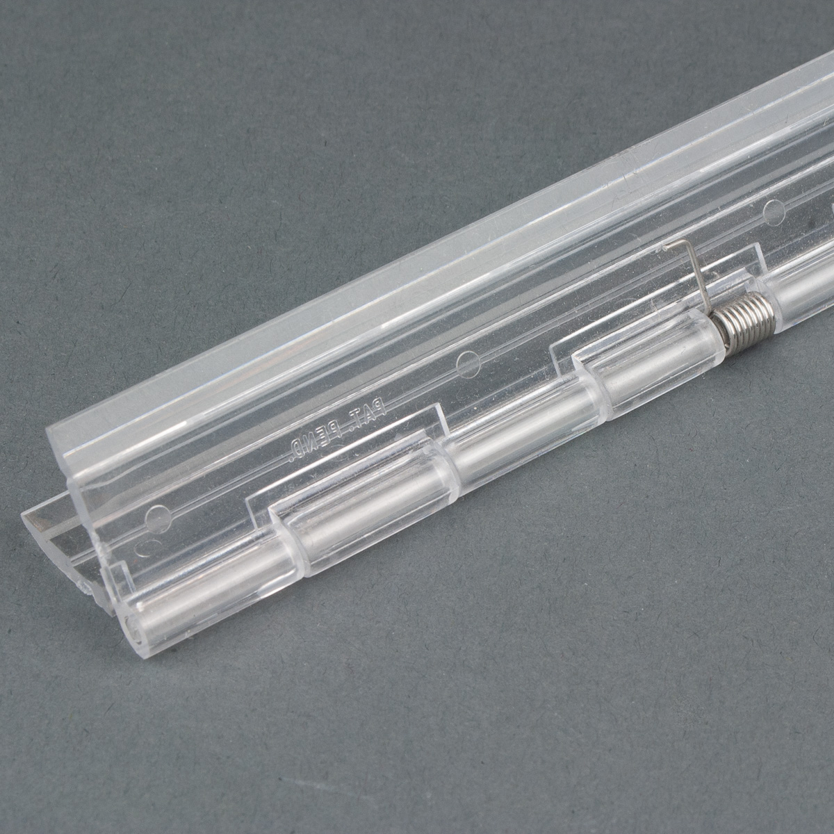 Piano Style Spring Loaded Clear Acrylic Hinge