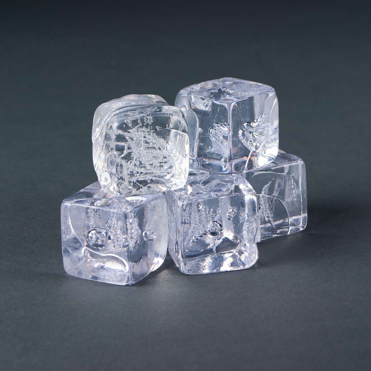 "Clear Acrylic Molded 1 1/4"" Ice Cube"