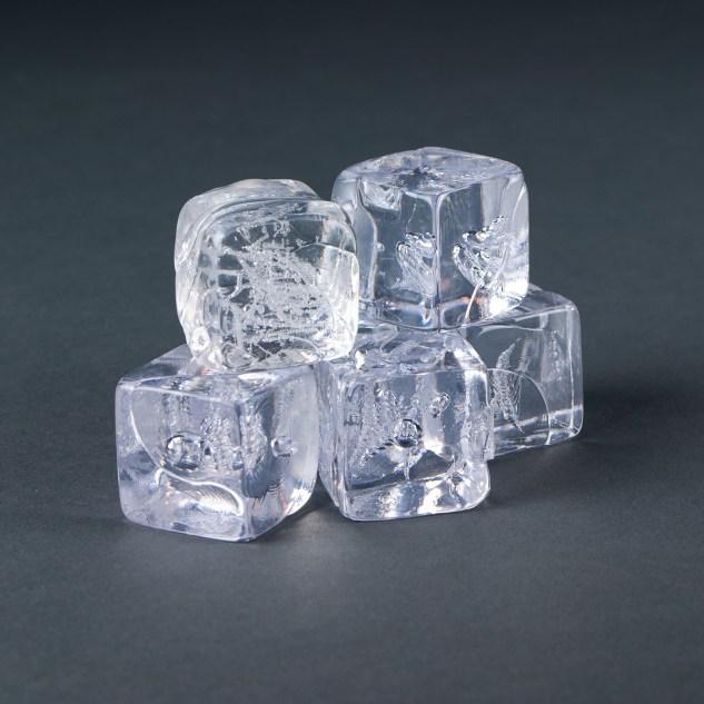 """Clear Acrylic Molded 1 1/4"""" Ice Cube"""