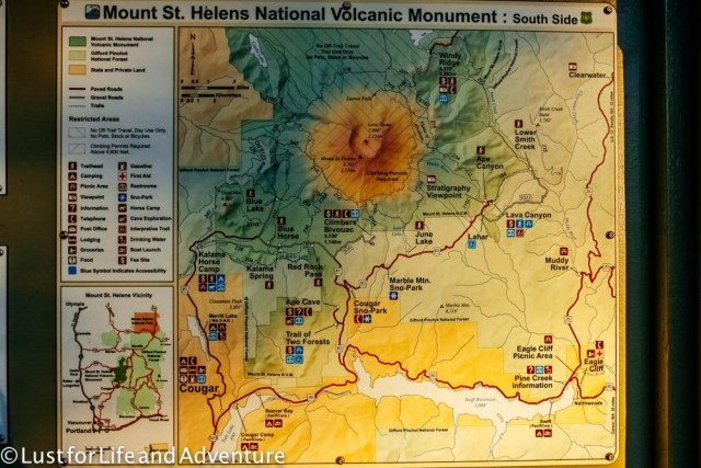 Mt St Helens Map