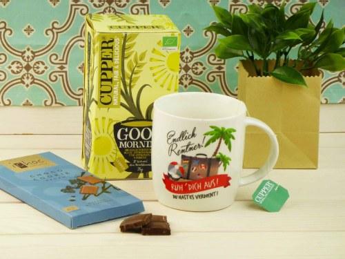 Geschenk zum Renteneintritt und Ruhestand schöne Tasse für Rentner ein tolles Abschiedsgeschenk für deine Kollegin