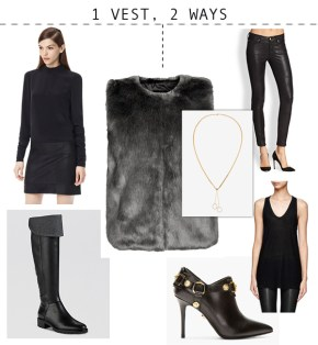 One Fabulous Fur Vest, Two Ways to Wear It