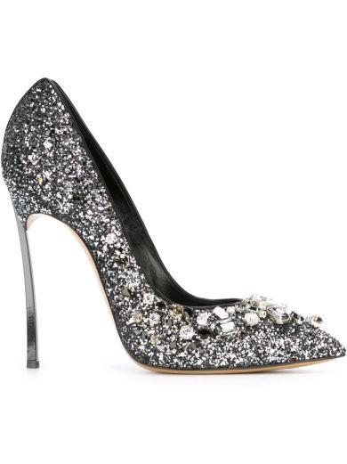 Casadei Embellished Glitter Pumps