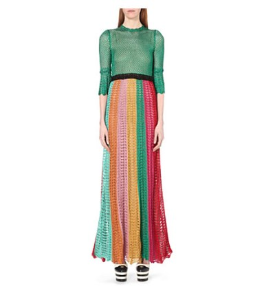Gucci Striped Open-knit Gown