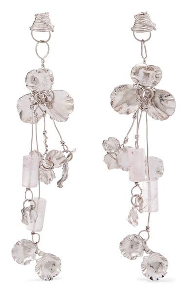 Balenciaga Silver-tone and Resin Earrings