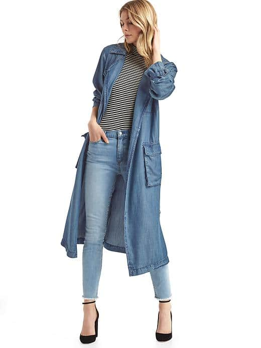 Gap Tencel Drapey Trench