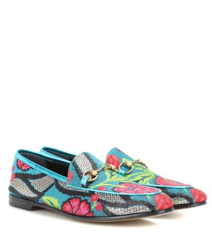 Gucci Jordaan Brocade Loafers