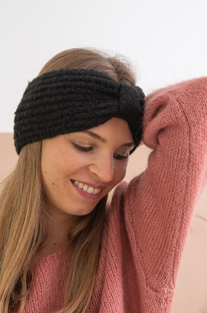 Headband noir femme