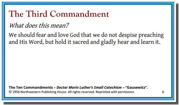 Memory Card - 3rd Commandment Meaning - 1956 WELS-NPH 600px
