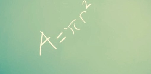 The formula for the area of a circle, just in case you're mathematically inclined