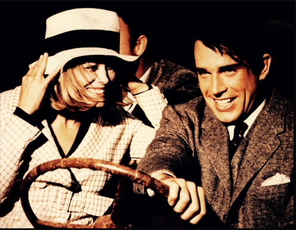 Double-dating at the drive-in with Bonnie and Clyde