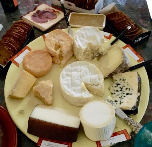 The Pilgrims might not have enjoyed cheese at the First T'giving. But we sure do, along with mucho wine (not pictured)