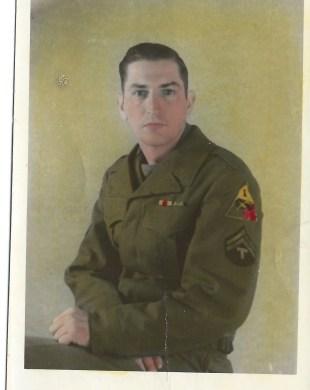 Portrait of Dad in uniform