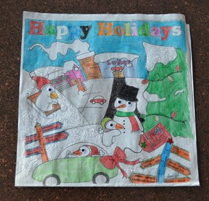 Allie of Plymouth submitted this prize winning coloring for the 6-8-year-old category.