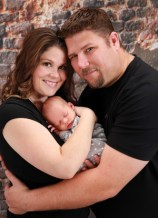 Family Ford's Jamie Lambert, her husband, Kelly, and baby Evelyn