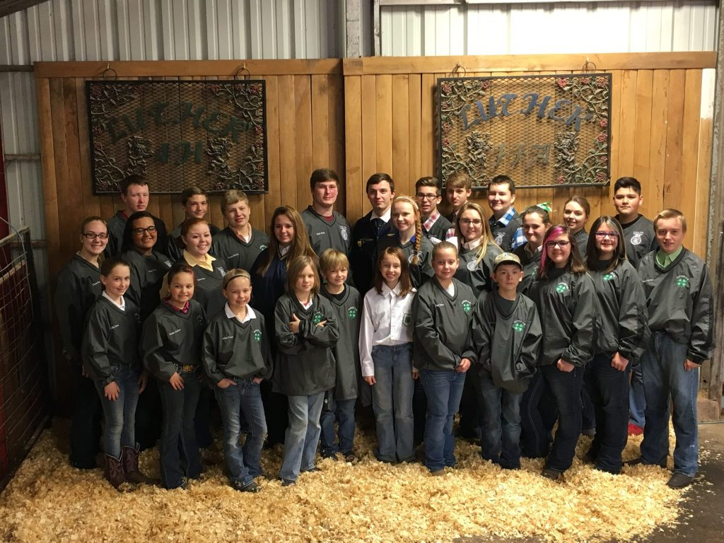 The whole gang. Luther Local Show. FFA & 4H