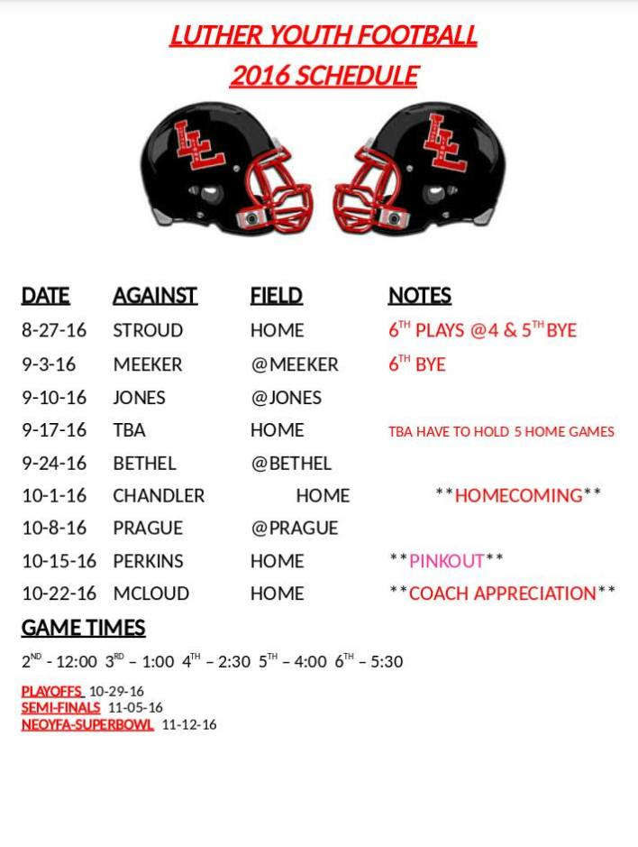 youth football sked