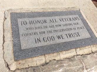 This veterans monument like will be relocated.