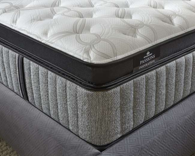 Kingsdown Passions Inspiration 16 Firm Or 15 5 Plush Queen Mattress Set Superior Performance Luther Liance And Furniture