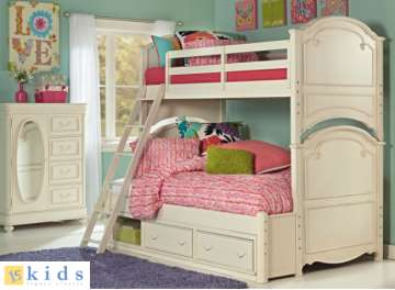 Elegant Yet Refined Victorian Collection Featuring Complete Twin Over Full Bunkbeds