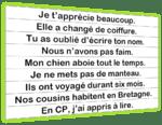 phrase négative CE1