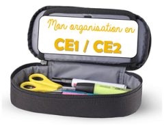 organisation cahiers CE1 CE2