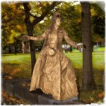 Steampunk Lady Living Statue