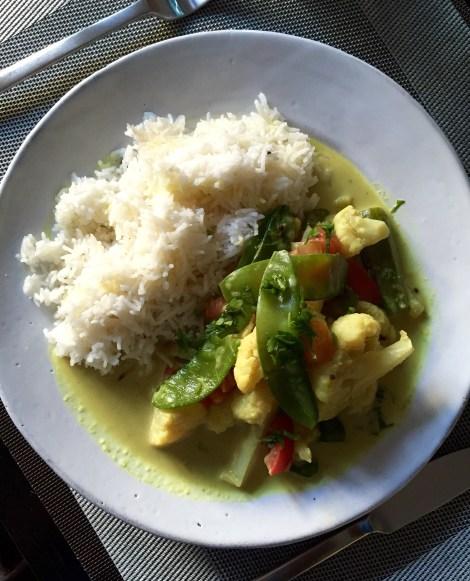 Curry de légumes au coco.